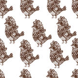 Pattern bird Royalty Free Stock Photos