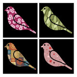 Pattern birds Stock Photo