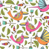 Pattern with birds Stock Photo