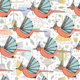 Pattern with birds Stock Image