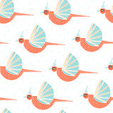 Pattern with birds Royalty Free Stock Photography