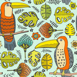 Pattern with birds Royalty Free Stock Image