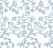 Pattern with birds and flowers Royalty Free Stock Photography