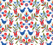 Pattern with birds and flowers Stock Photography