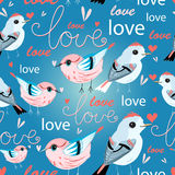 Pattern of birds lovers Royalty Free Stock Photography