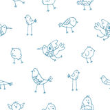 Pattern with birds. Royalty Free Stock Photography