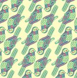 Pattern with birds. Royalty Free Stock Images
