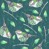 Pattern with birds Stock Photography