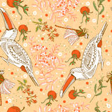 Pattern with birds Stock Images