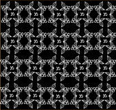 Pattern on a black background Royalty Free Stock Photos