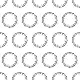 Pattern with black barbed wire rings Royalty Free Stock Images