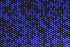 Pattern of black and blue spheres. Shiny balls. Abstract background. 3D rendering illustration Royalty Free Stock Photos