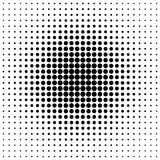 Pattern of black dots. In the style of halftone Royalty Free Stock Photography