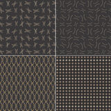 Pattern black with ellipse Stock Photography