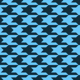 Pattern with black figures on a blue background. Abstract seamless pattern with black figures on a blue background Stock Image