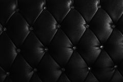 Pattern of black leather with crystal decorated Stock Photography