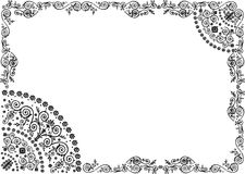 Pattern with black openwork frame Royalty Free Stock Photos