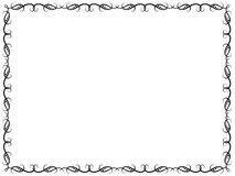 Pattern with ornate floral frame. Pattern with black ornate floral frame on the white background, vector artwork Royalty Free Stock Images
