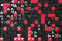 Pattern of black and red pyramid shapes. Wall of pyramid. Abstract background. 3D rendering illustration Royalty Free Stock Photo