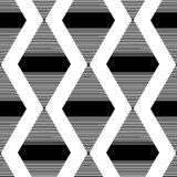 The pattern of the black striped rhombuses Stock Photo