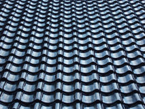 Pattern of black tiled roof Royalty Free Stock Photo