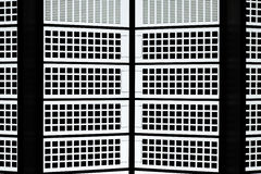 Pattern black white block roof detail shot Central Station Rotte Royalty Free Stock Image