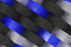Pattern with black, white and blue rectangular shapes Royalty Free Stock Photos