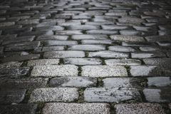 Black and white cobblestones background Royalty Free Stock Photography