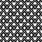Pattern Of Black And White Fabric Poker Table Stock Images