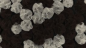 Pattern from black and white flowers. Abstract floral background. 3D rendering illustration Royalty Free Stock Photos