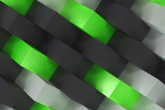 Pattern with black, white and green rectangular shapes Stock Photo