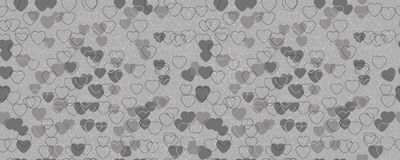 The pattern of black and white hearts. Horizontally and vertically seamless background stock illustration