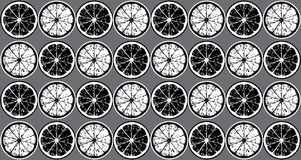 Pattern of black and white lemon Stock Photography