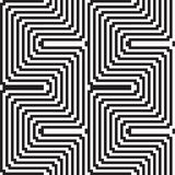 Pattern in black and white - optical illusion vector illustration