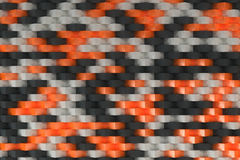 Pattern with black, white and orange rectangular shapes Royalty Free Stock Images