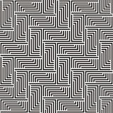 Pattern in black and white zigzag Stock Photography