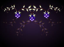 Pattern of blackberries on a purple base. EPS10 Royalty Free Stock Photos