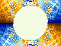 Pattern with blank circle Royalty Free Stock Photography