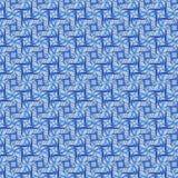 Pattern A blue. Seamless blue swirl plaid pattern Stock Photo