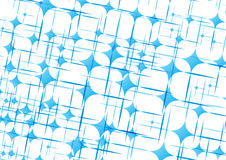 Curved rhombuses and lines. An illustrated pattern of curved blue rhombuses and lines on a white background Stock Photography