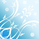 Pattern on a Blue Background Stock Photography