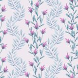 Pattern with branches stock illustration