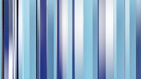 Pattern of blue color strips prisms. Abstract background. 3D rendering illustration. stock video