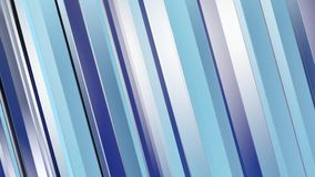 Pattern of blue color strips prisms. Abstract background. 3D rendering illustration. stock video footage