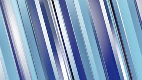 Pattern of blue color strips prisms. Abstract background. 3D rendering illustration Stock Photography