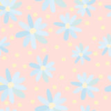Pattern of blue daisies 2 Royalty Free Stock Photo