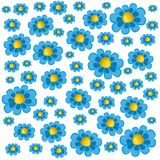 A pattern of blue daisies Royalty Free Stock Photography