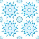 Pattern blue. Flower ornament vintage Royalty Free Stock Image