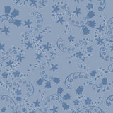 Pattern of blue flowers Royalty Free Stock Image