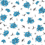 Pattern with blue flowers Royalty Free Stock Image